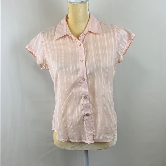 At Last & Company Pink Button Down Shirt